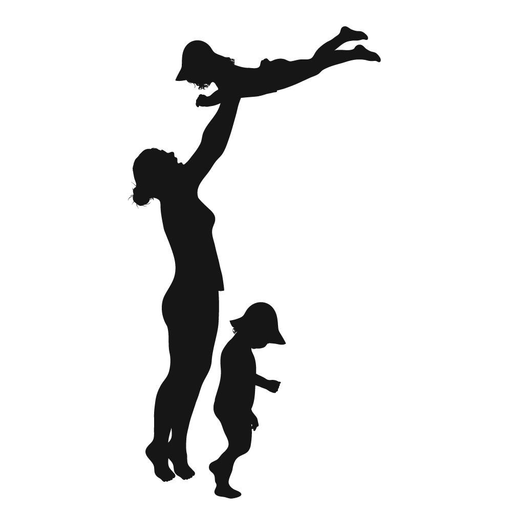 Love The Mother Child Silhouette: Father (or Mother) And Children