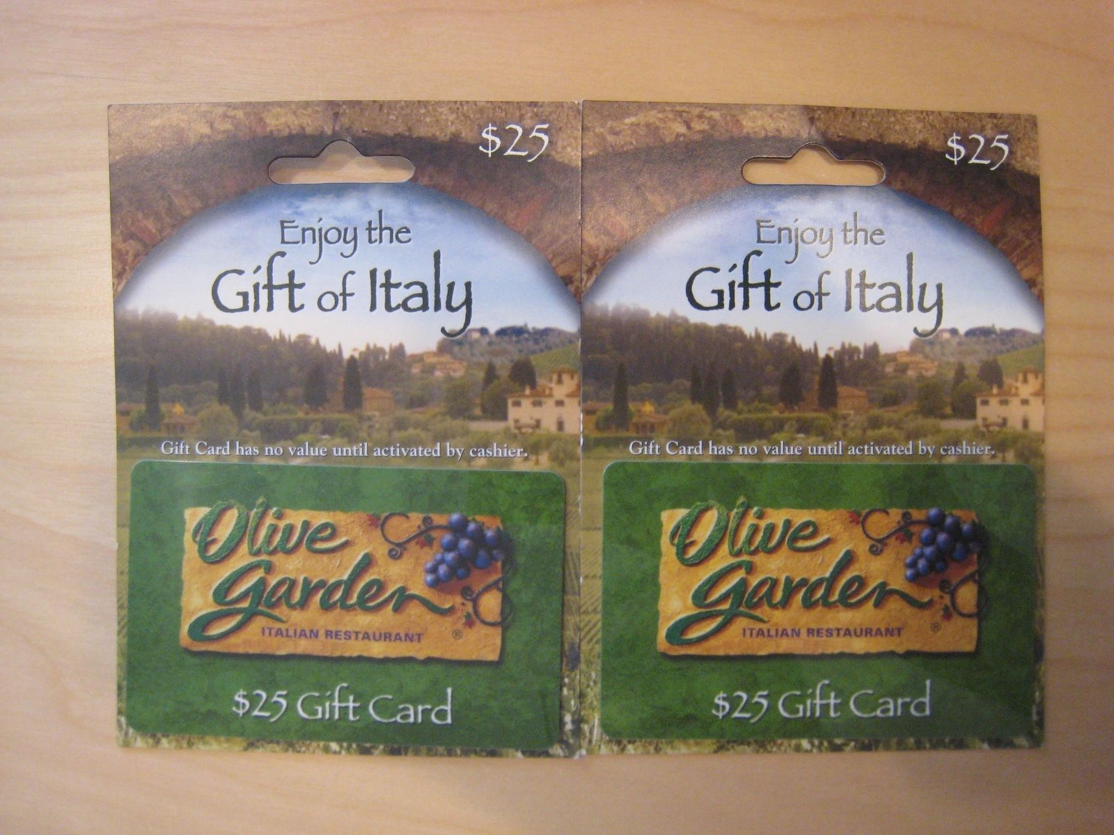 Coupons Giftcards 50 Olive Garden Gift Card Certificate Darden