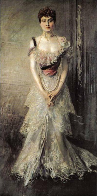 Giovanni Boldini (Italian 1842–1931) [Portraiture] Portrait of Maria Eulalia of Spain, 1898.