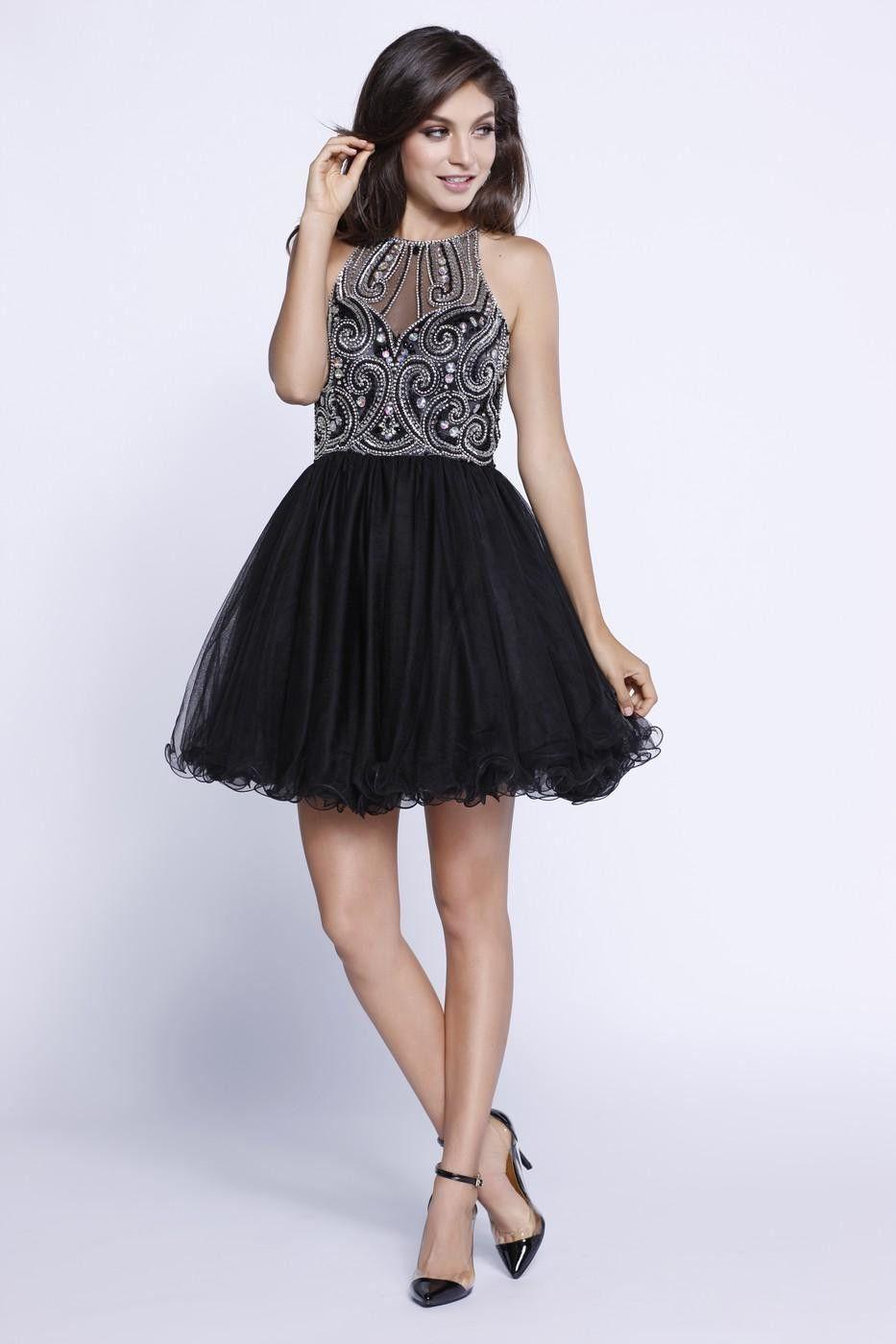 Beaded Swirl Dress | Beads, Colour black and Black