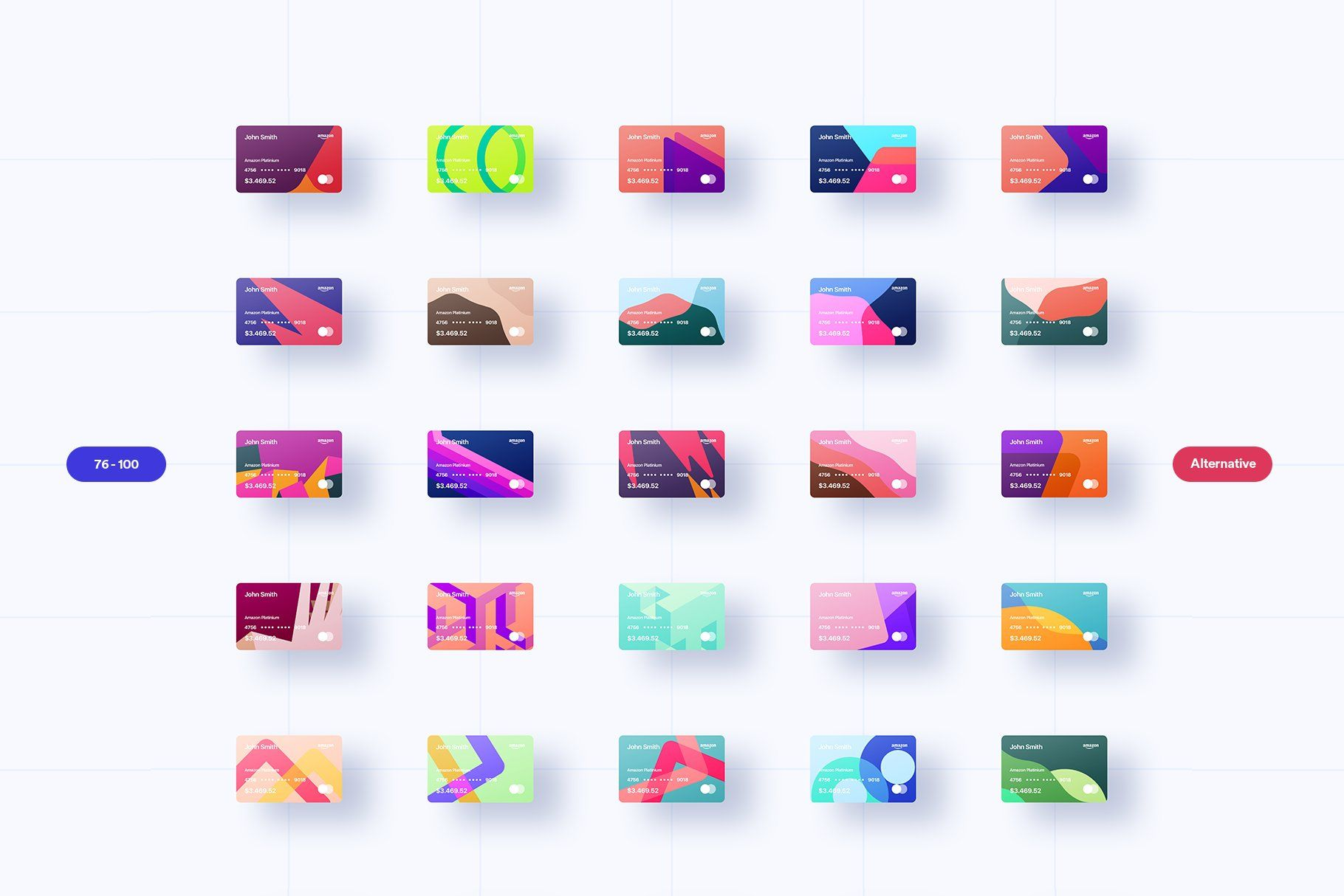 100 Financial Virtual Design Cards , ad, Features