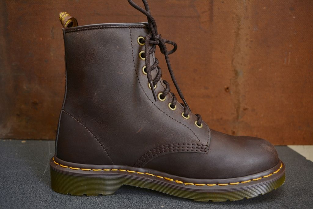 Dr martens 1460 crazy horse leather lace up boots in 2020