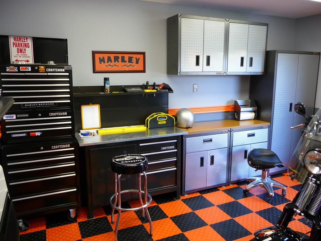 Man Cave Ideas Harley Davidson : Harley davidson garage ideas my new man cave for
