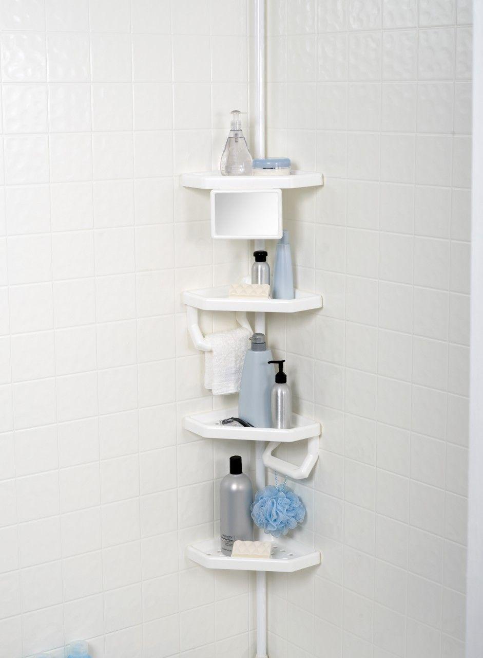 4-shelf bathroom storage caddy white   ideas   Pinterest   Bathroom ...