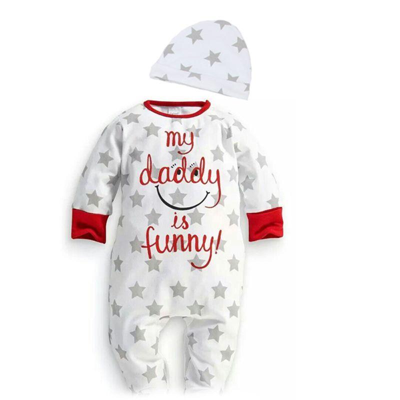 33ad420c3 Uzun kollu bebek tulum aşk mama papa boys kız bebekler giysi newbron ...