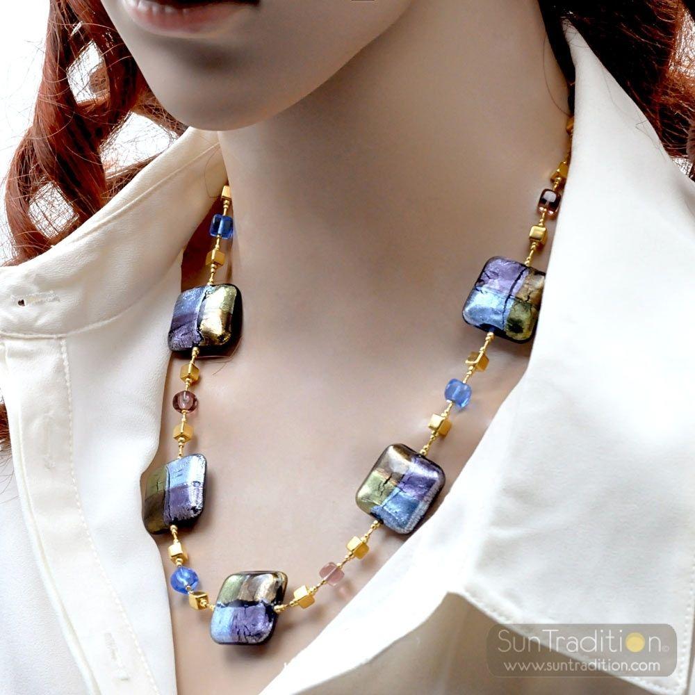 collier perle verre murano