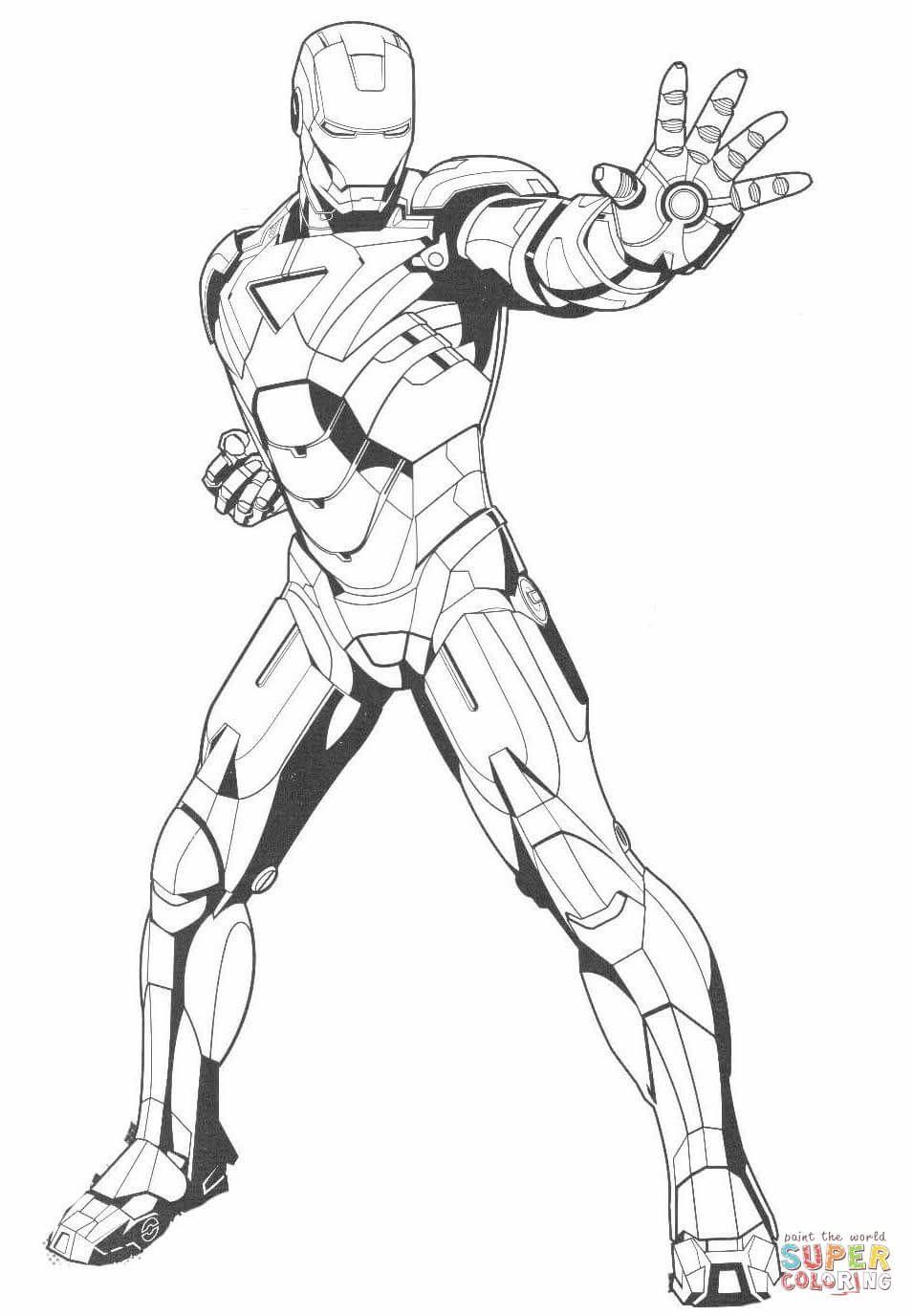 Iron Man Coloring Book