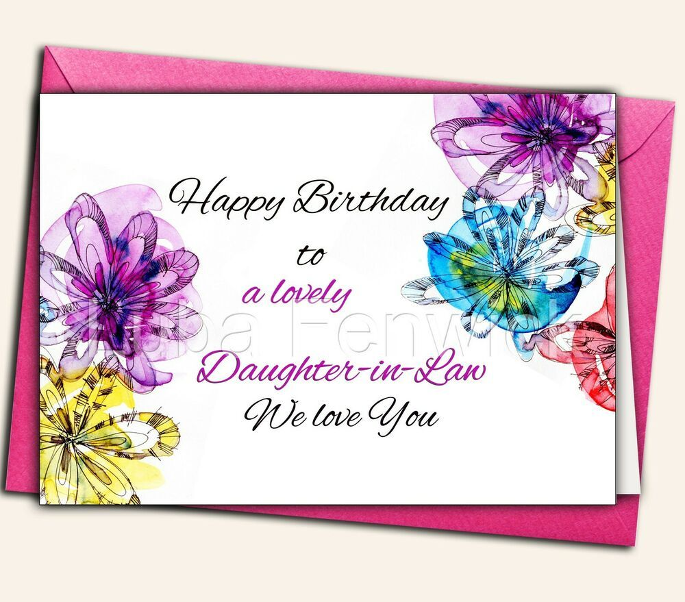 Birthday, daughterinlaw, Greeting card, Personalised