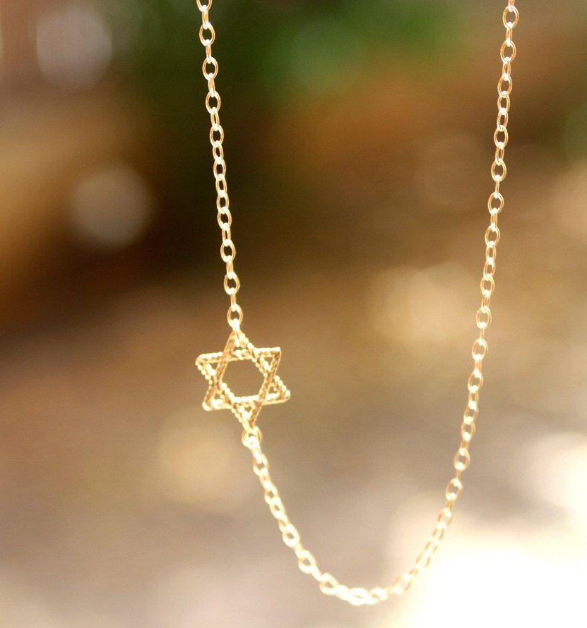 Star of david necklace gold sideways jewish star of david necklace star of david necklace gold sideways jewish star of david necklace jewish jewelry aloadofball Images