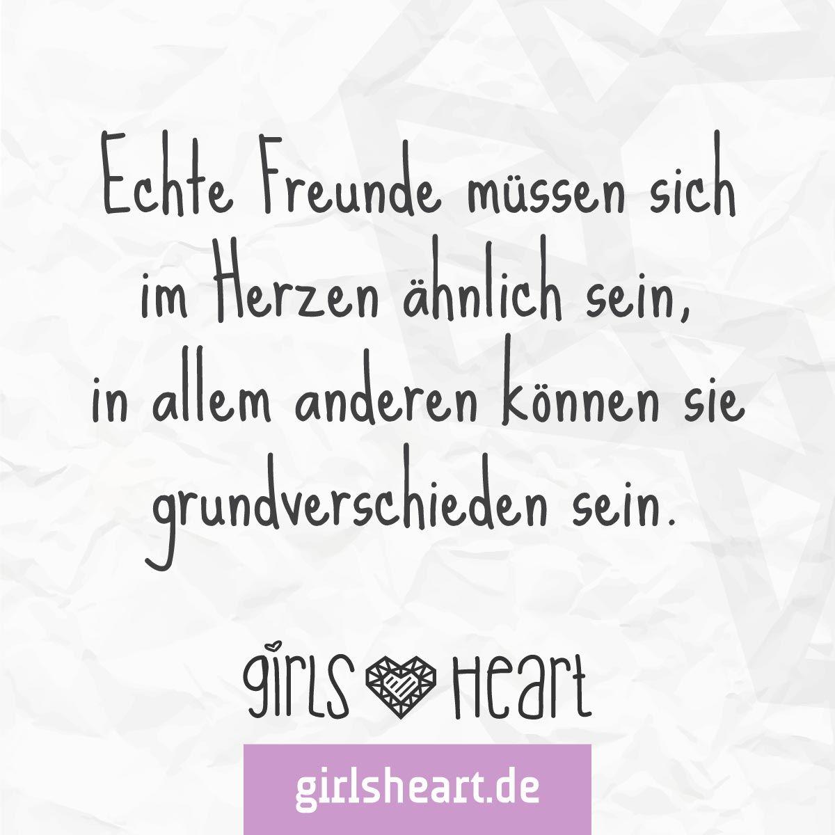 Auf echte Freunde! Mehr Sprüche auf: .girlsheart.de #freunde