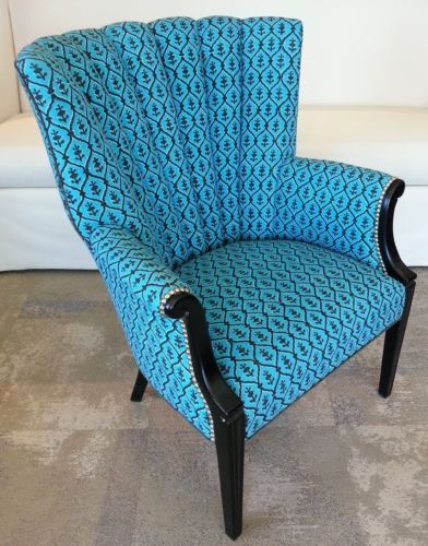 Surprising Channel Back Wing Chair Circa 1940 Upholstered Chairs Ibusinesslaw Wood Chair Design Ideas Ibusinesslaworg