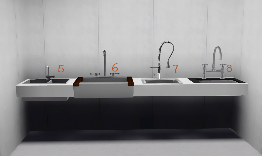 WHITE DOT - MY FAVOURITE KITCHEN SINKS AND APPLIANCES #Sims3