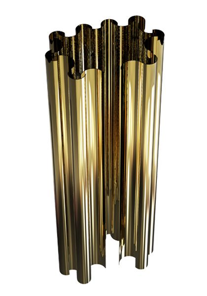 The golden wall lamp Parker with its brass tubes will light up the finest restaurants, lobbies and contemporary settings.
