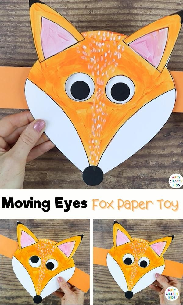 Photo of Moving Eyes Fox Craft for Kids