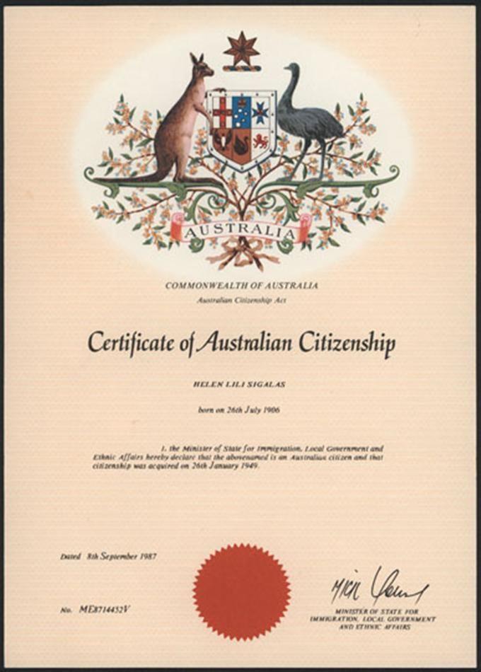 australian citizenship certificate - Google Search Australia - new letter to minister format australia