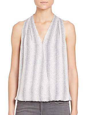 a4c25521e959f7 Joie Naya Animal-Print Silk Blouse - Porcelain - Size L   Products ...