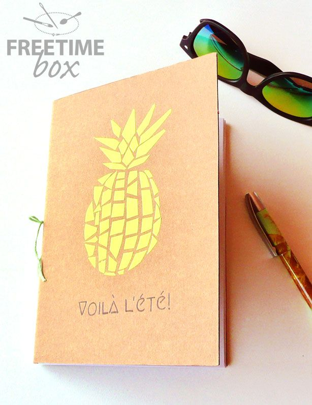 tuto diy   se cr u00e9er un joli carnet au motif ananas
