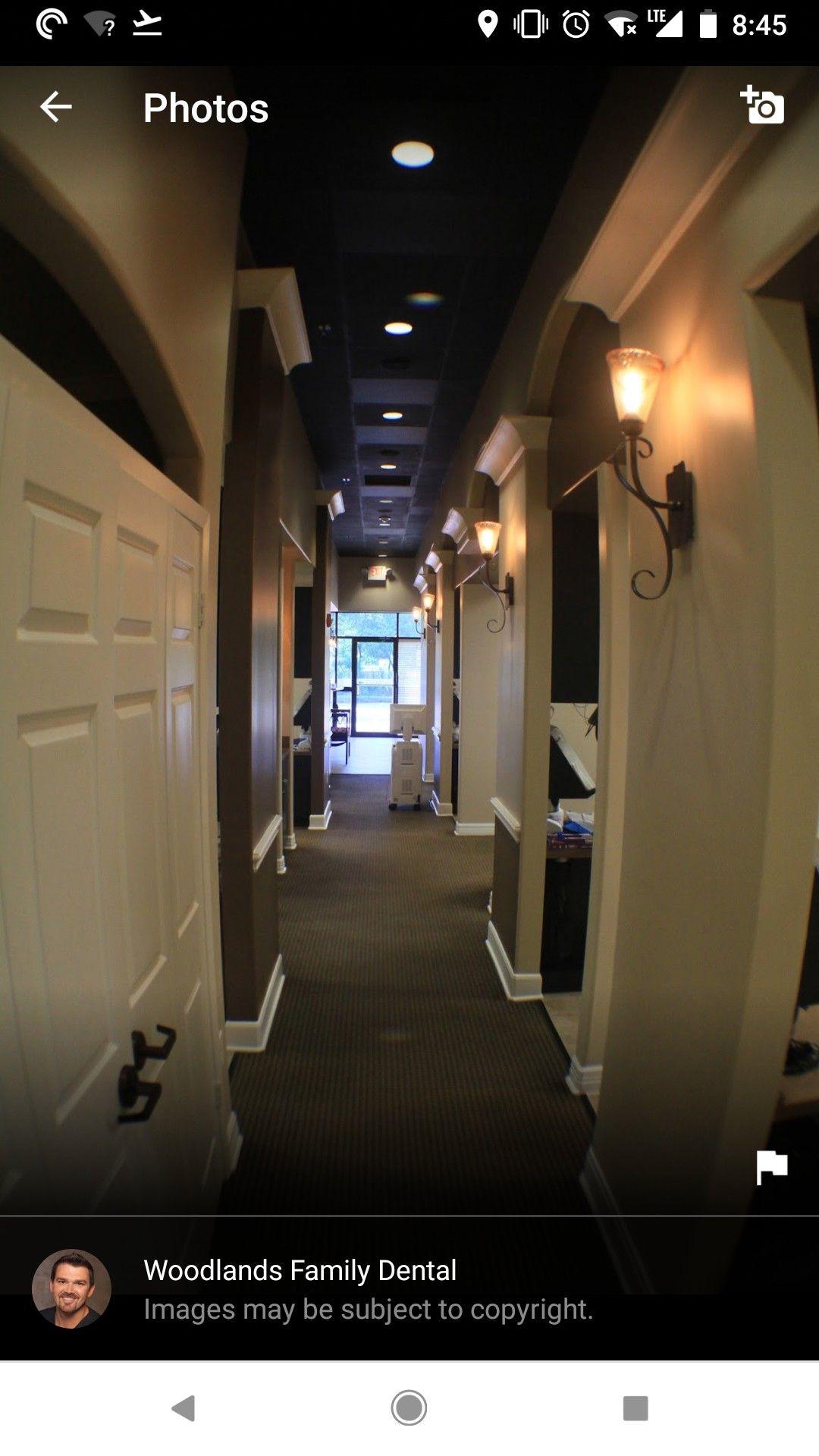 Black Ceiling Tiles In The Hallway Dental Office Design