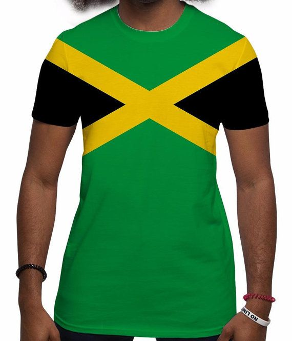 43ebb50fb5 Men's Jamaican Flag, Jamaica T shirt, Rasta clothing, Jamaican ...