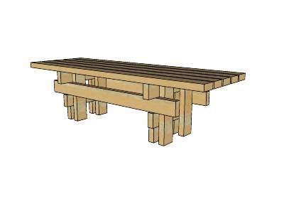 Japanese Garden Bench Sketchup Model Decor Japanese