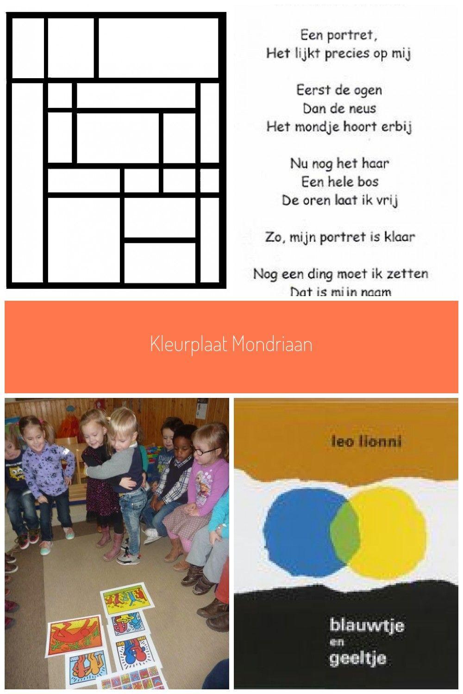 Kleurplaat Mondriaan Thema Kunst Mondriaan Kunst Mondriaan Kunst