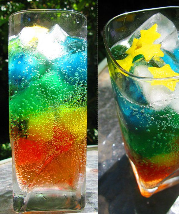 Rainbow Madness Rainbow Layer Cake Mom Me Rainbow Drinks Rainbow Cocktail Festive Drinks