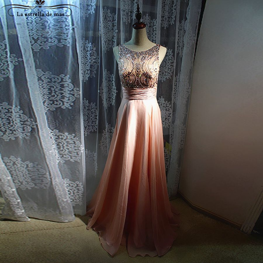 Click to buy ucuc formal evening gowns dresses new crystal back