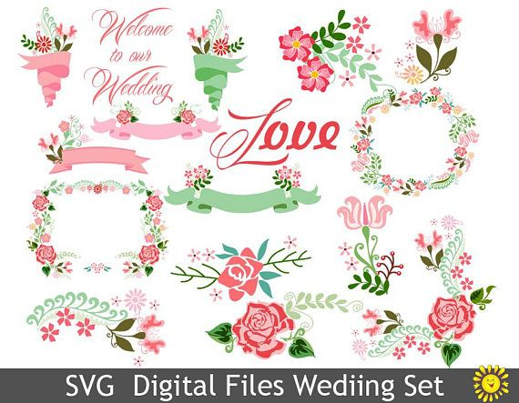 Svg watercolor welcome to our wedding decorations floral elements svg watercolor welcome to our wedding decorations floral elements clipart vector home party template decor cards scrapbooking 90vr junglespirit