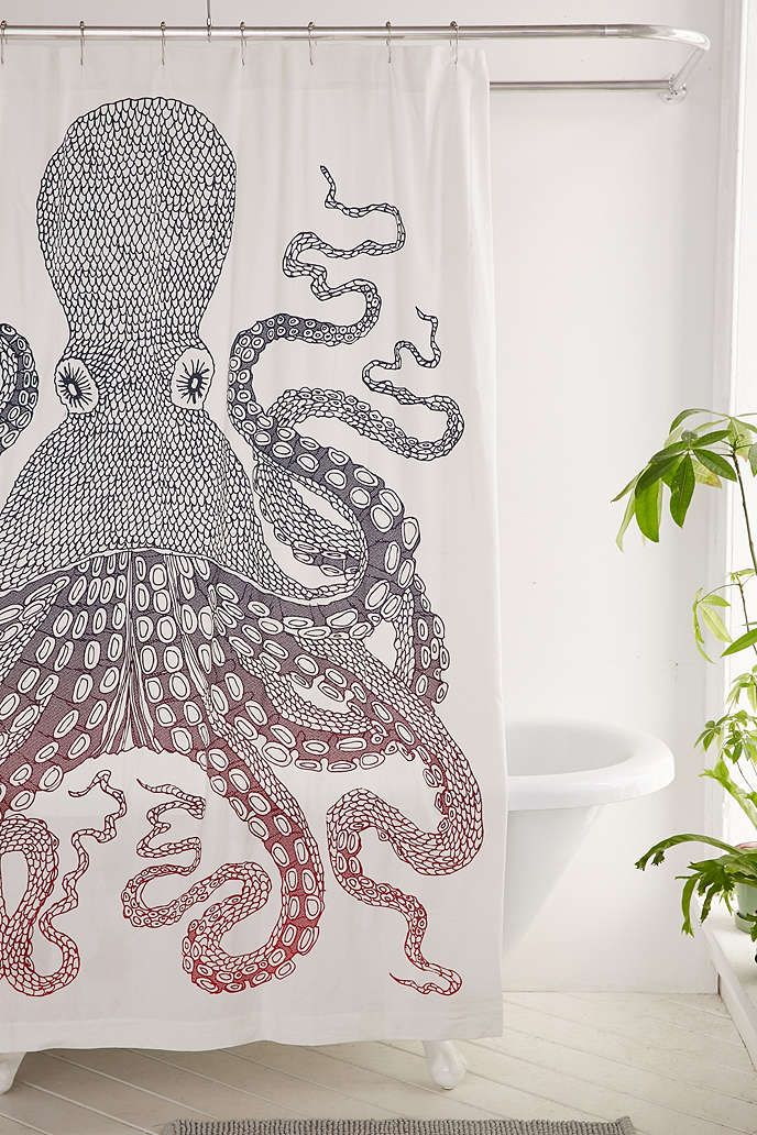 UrbanOutfitters Awesome Stuff For You Amp Your Space Kraken Shower Curtain