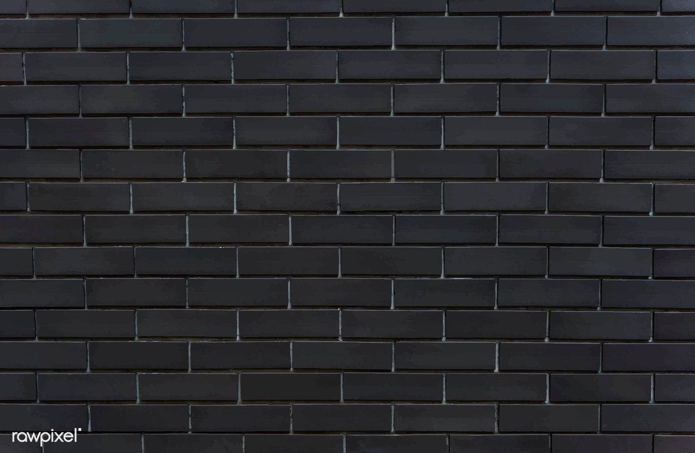 Download Premium Vector Of Black Brick Wall Textured Background 514107 Black Brick Wall Black Brick Brick Wall