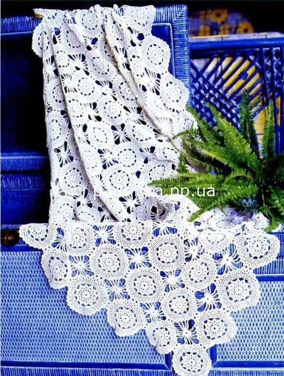 Paño con los patrones de los copos de nieve | Crochet stitches ...