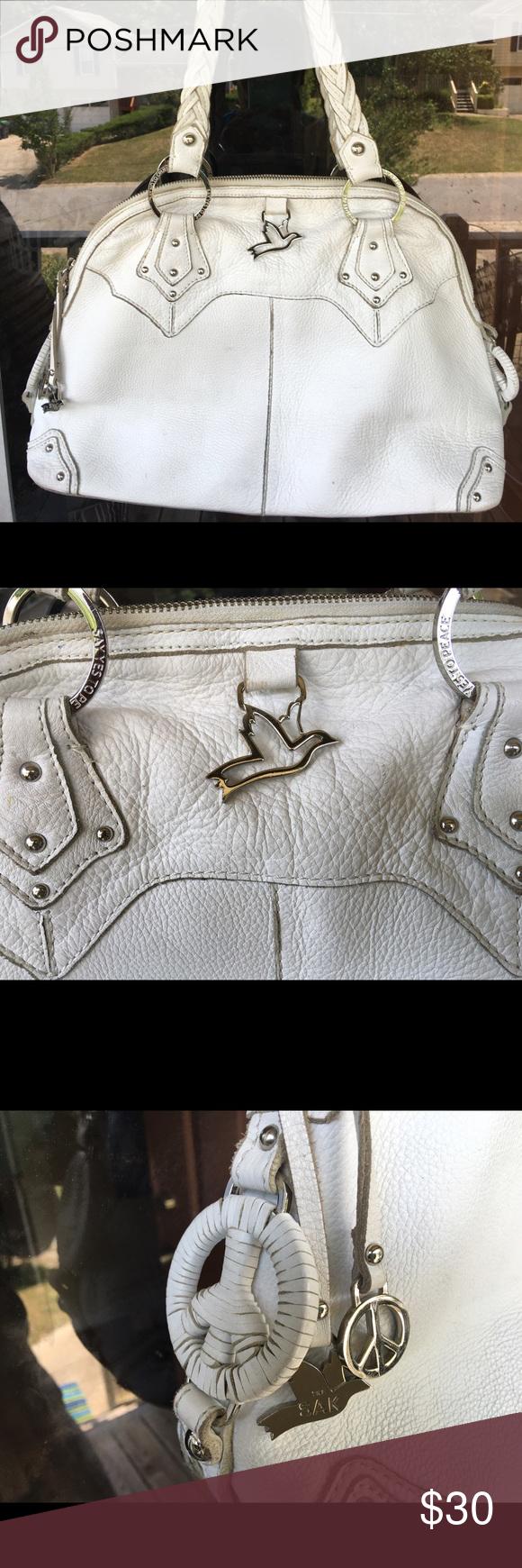 The SAK purse The SAK white leather handbag in great condition! The Sak Bags Shoulder Bags
