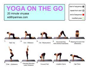 yoga on the go 2  20 minute vinyasa flow  vinyasa flow