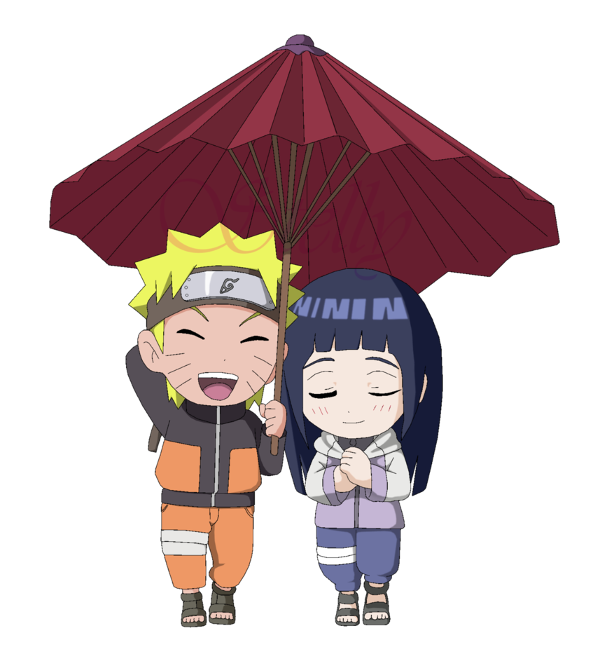 Naruto e Hinata Chibi - Lineart Colored by DennisStelly on DeviantArt