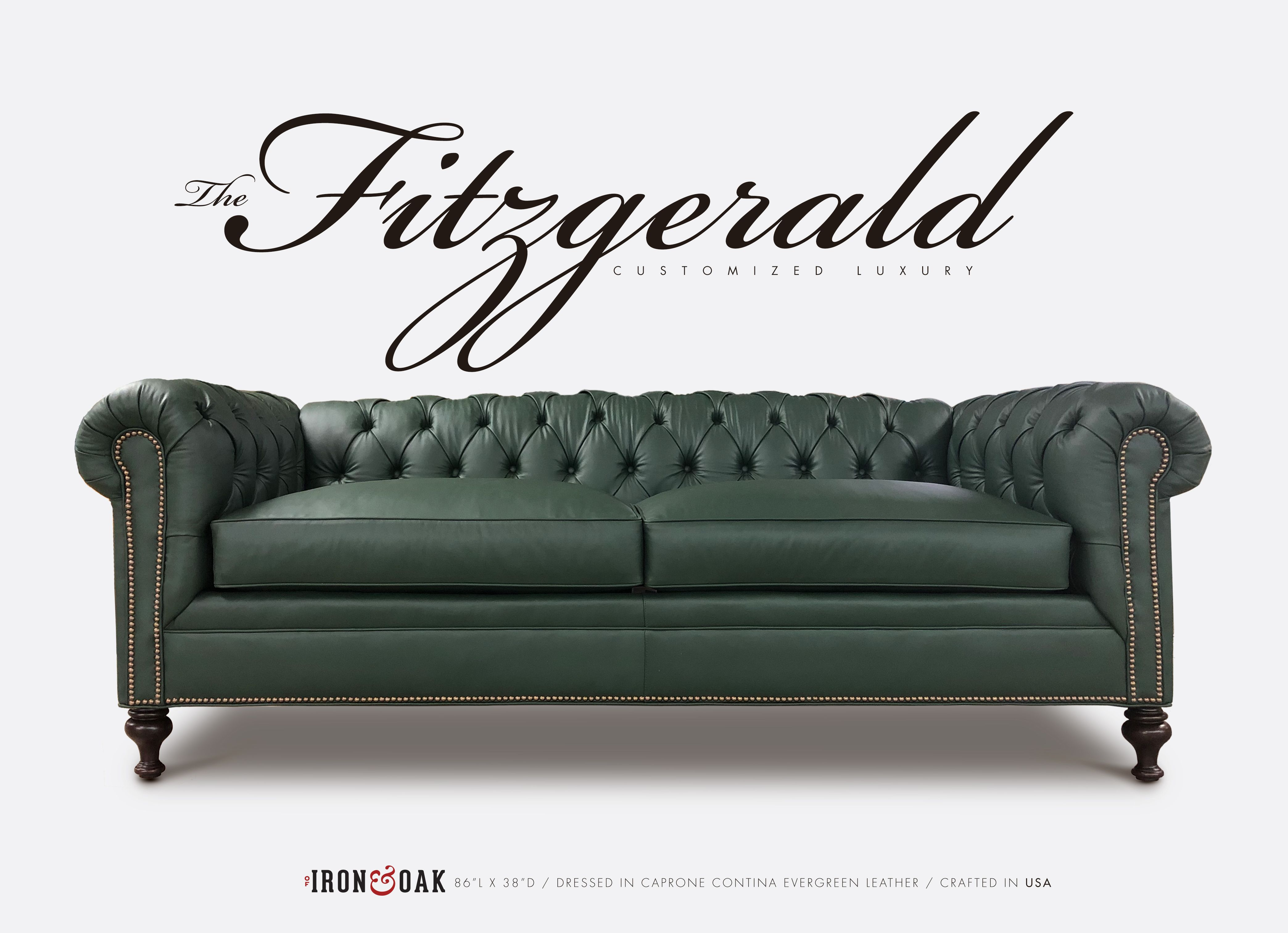 Stupendous The Fitzgerald Of Iron Oak Chesterfield Collection Bralicious Painted Fabric Chair Ideas Braliciousco