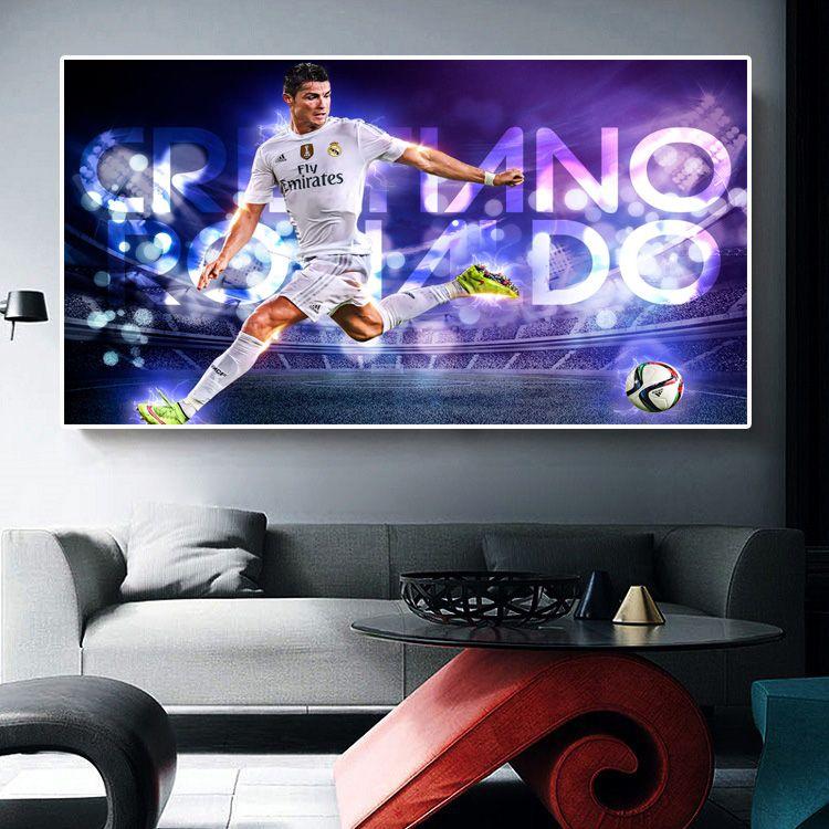 FOOTBALL CRISTIANO RONALDO PHOTOS PRINT ON FRAMED CANVAS WALL ART DECORATION