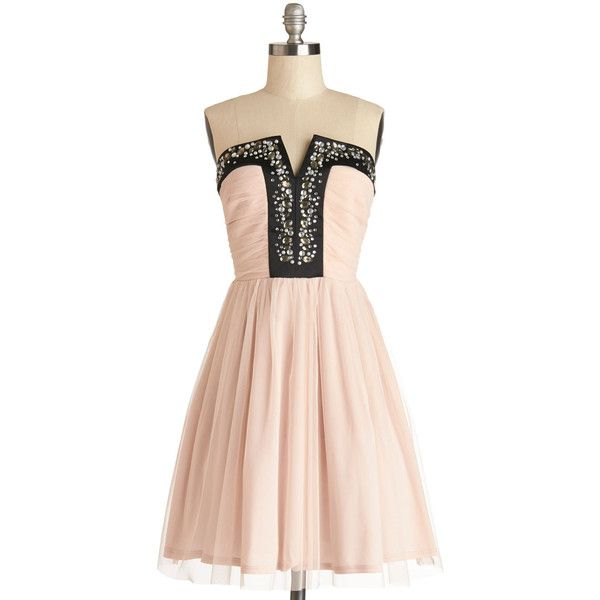 ModCloth Pastel Long Strapless A-line Luxe Redux Dress and other ...