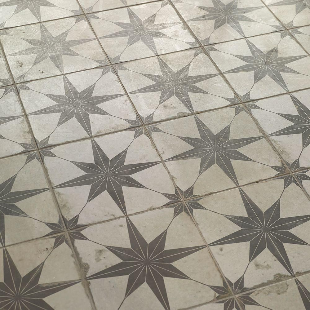 Merola Tile Kings Star Nero 17 5 8 In X17 5 8 In Ceramic Floor And Wall Tile 11 02 Sq Ft Case Fpestrn The Home Depot Ceramic Floor Flooring Floor And Wall Tile