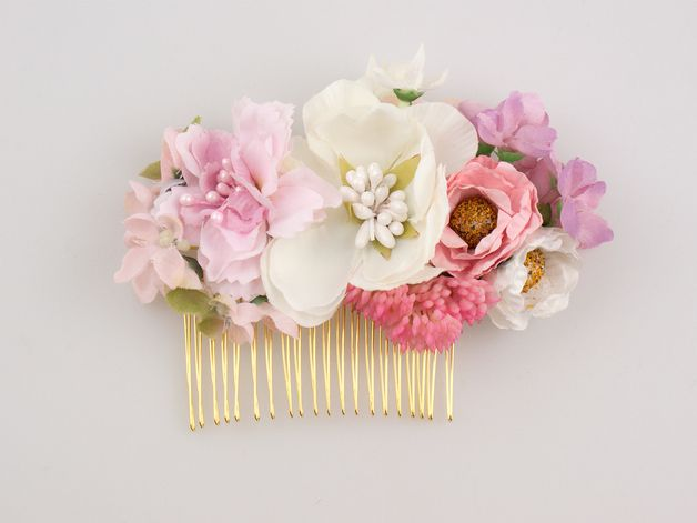 Peineta Con Flores Accesorios Para El Cabellode La Boda Peinetas Peineta Flores