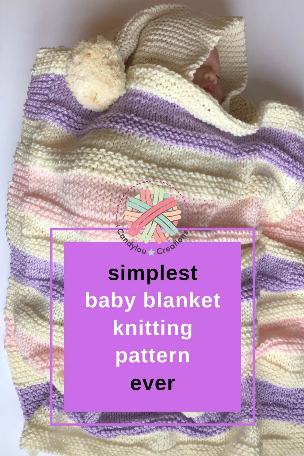 A very simple and squishy easy baby blanket knitting ...