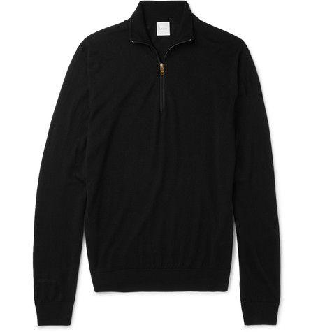 dcec4af8511 Slim-Fit Funnel-Neck Merino Wool Half-Zip Sweater   MR PORTER ...