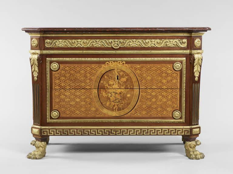 Estampillé : Jean-François LELEU Commode 1772 Paris Bâti de ...
