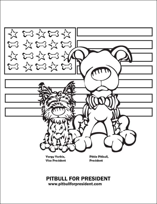 Download A Free Coloring Page To Celebrate Pittie Pitbull And