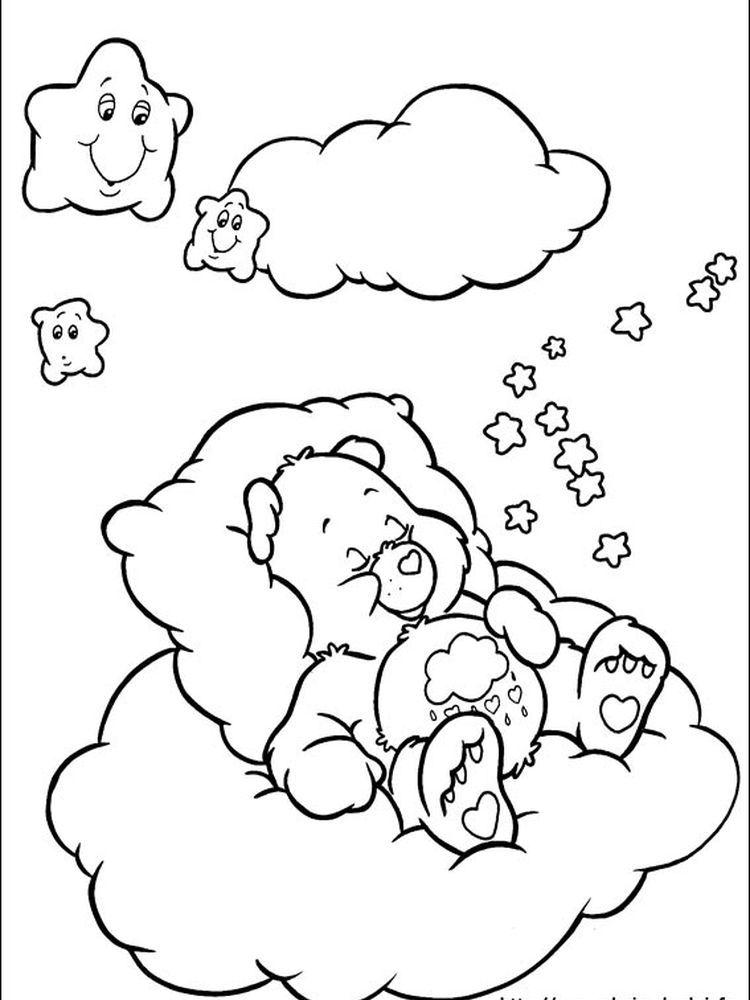 Printable Care Bear Coloring Page For Kids Free Coloring Sheets