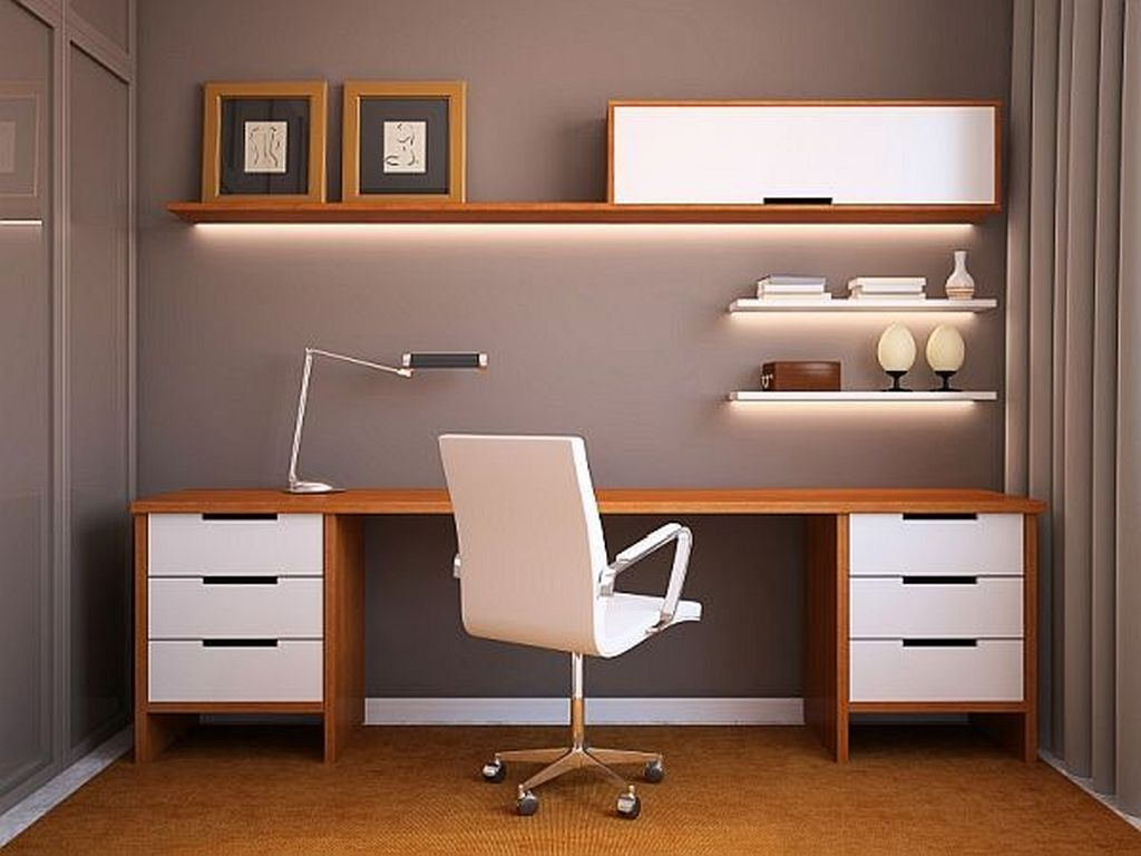 40 Simple Home Office Decorating Ideas For Small Spaces