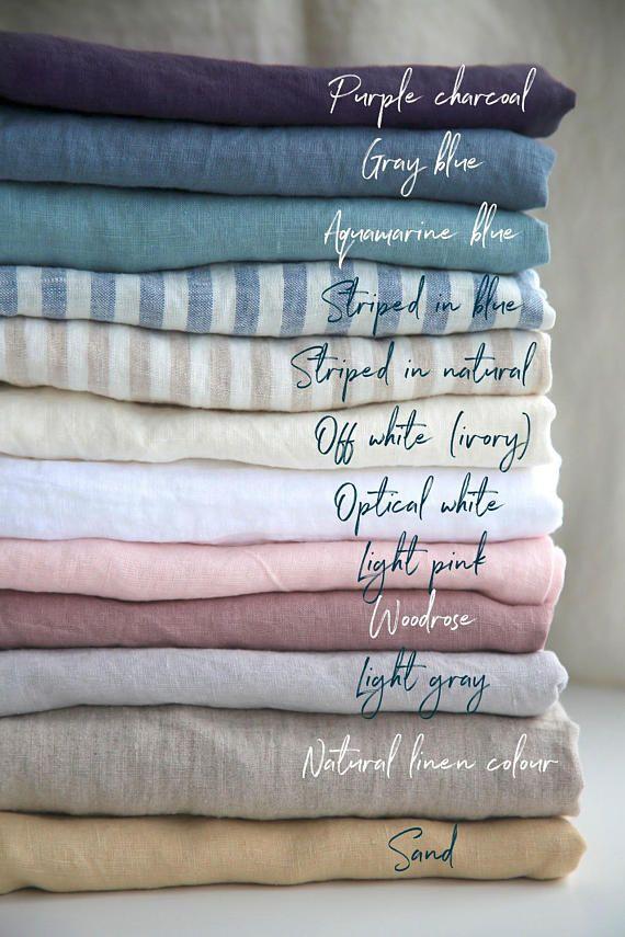 21988da5c3b1 Linen tablecloth. 12 colours. Stone washed linen. Natural