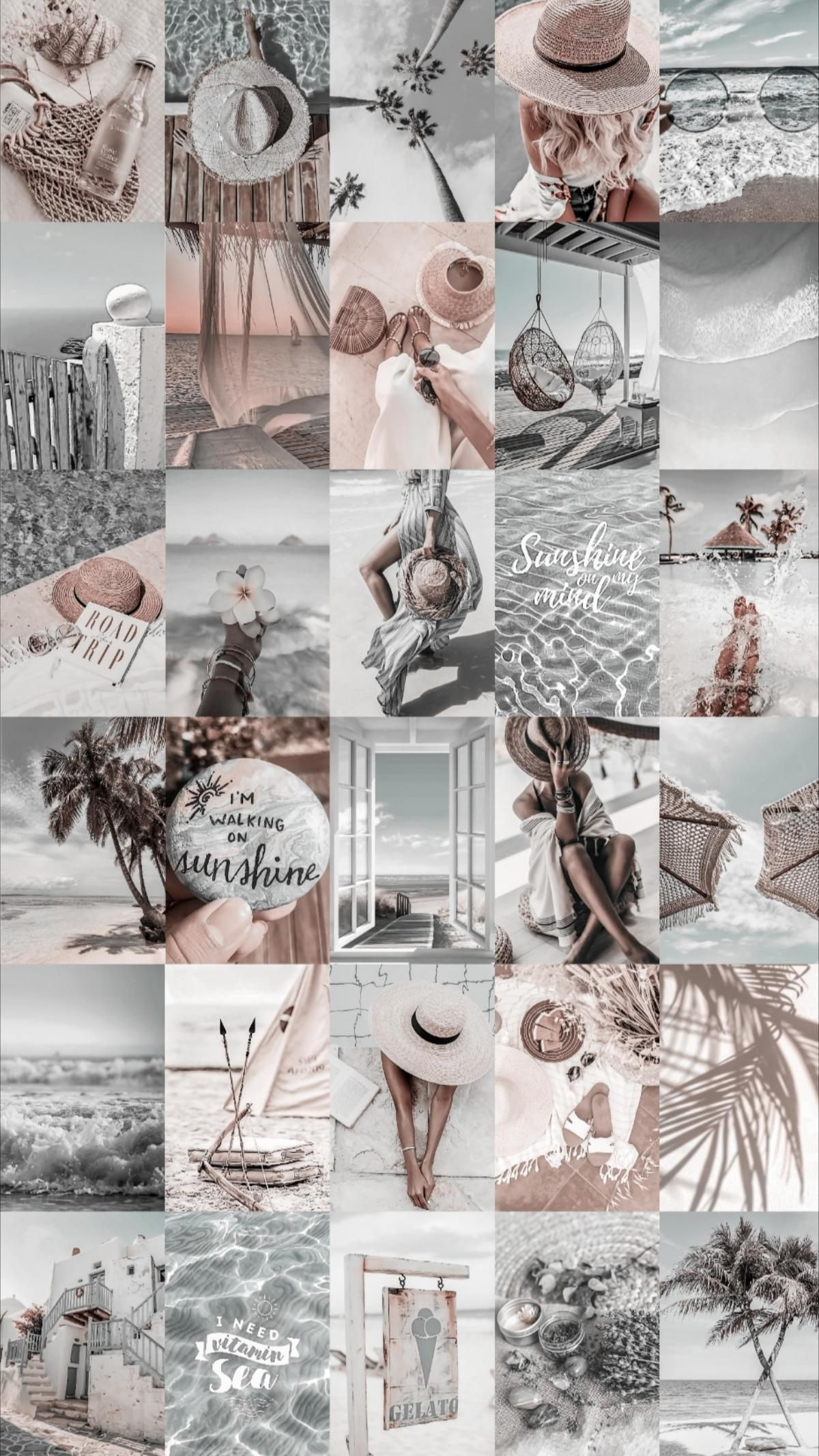 Spice up your room with this beach aesthetic photo wall collage kit!