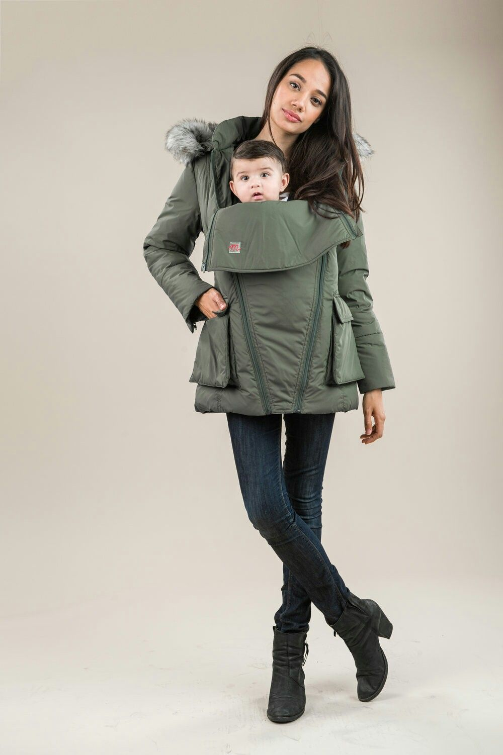 The M Coat. Fashionable,  multipurpose maternity coat.