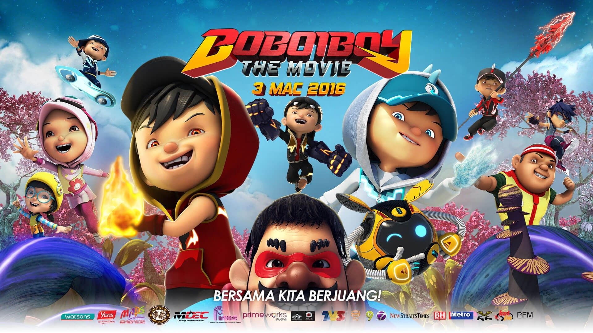 32 Gambar Boboiboy Galaxy The Movie 19 Film animasi