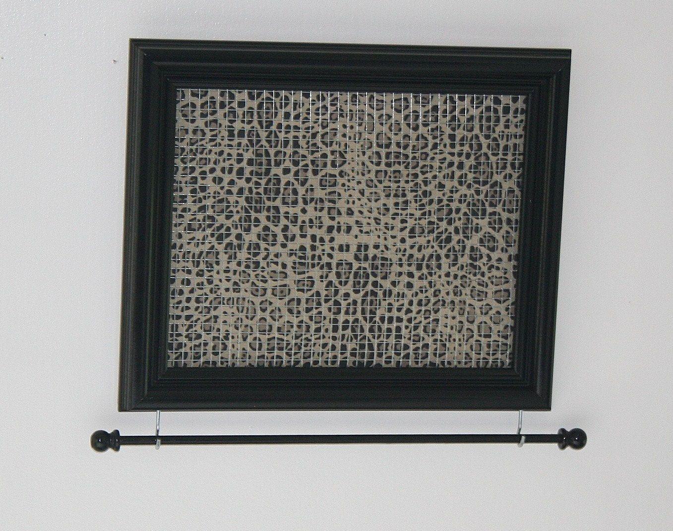 Black Framed Jewelry Organizer- Leopard Print